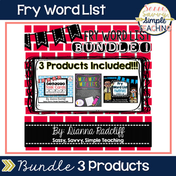 Fry Word List Bundle Package [3 products combined]