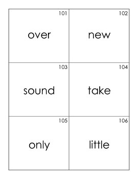 Fry Word List Flash Cards—1,000 High Frequency Words