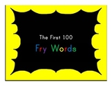 The 1st 100 Fry Words - Printable (.pdf) - Sight Words Hig