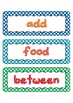 Fry Word List Word Wall Cards in Polka Dots 201 to 300