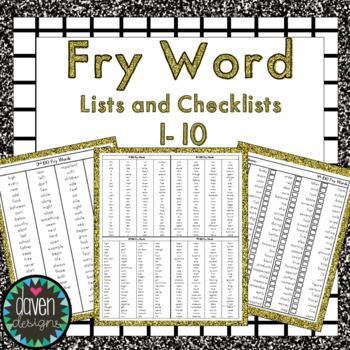 Fry Word Lists 1-10