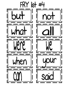 Fry Word Lists(Words 1-60)