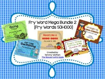 Fry Word MEGA Bundle 2 {Fry Words 501-1000}