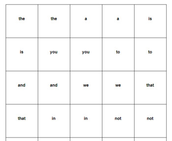 Fry Word Matching Game