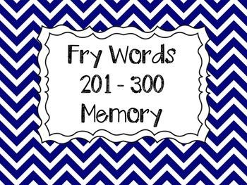 Fry Word Memory 201-300