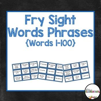 Fry Word Phrases 1-100