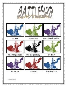 Fry Word  Phrases: Battleship