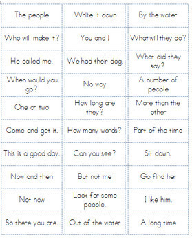 Fry Word Phrases Lists 1-6 Ready to Print on Sticker Labels! {Fully Editable}