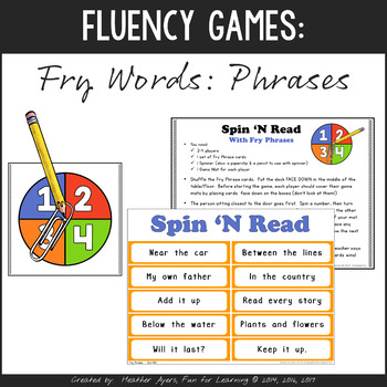 Fry Word Phrases - Print 'n Go Games