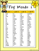 Fry Sight Word Posters - Busy Bee Theme