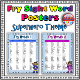 Fry Sight Word Posters - Superhero Theme