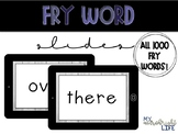 Fry Word Powerpoint (All 1,000 words!)