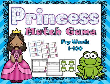Fry Word Princess Match Game