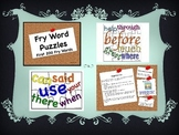 Fry Word Puzzle Centers