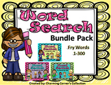 Fry Word Search Bundle (Sets 1,2, 3 ~ Words 1 - 300)