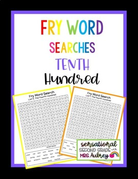 Fry Word Searches, 10th Hundred
