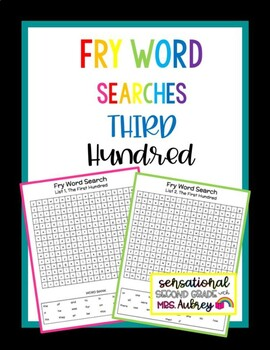 Fry Word Searches, 3rd Hundred