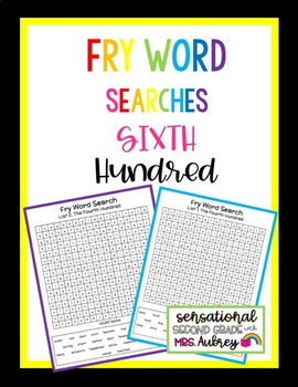 Fry Word Searches, 6th Hundred