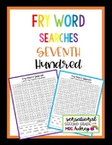 Fry Word Searches, 7th Hundred