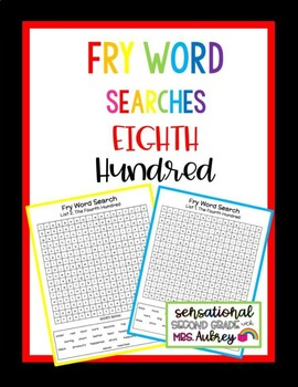 Fry Word Searches, 8th Hundred