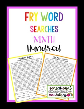 Fry Word Searches, 9th Hundred