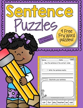 Sentence Puzzle Freebie {Fry Word  Edition}