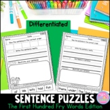 Fry Word Sentence Puzzles {The First Hundred Words}