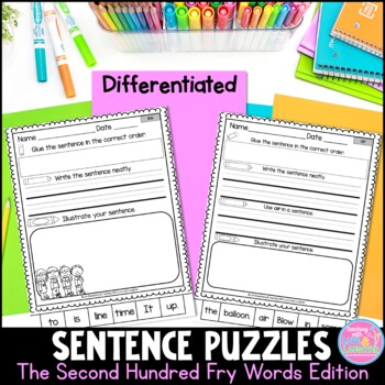 Fry Word Sentence Puzzles {The Second Hundred Words}