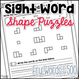 Sight Word Shape Puzzles (Fry Words 1-500)
