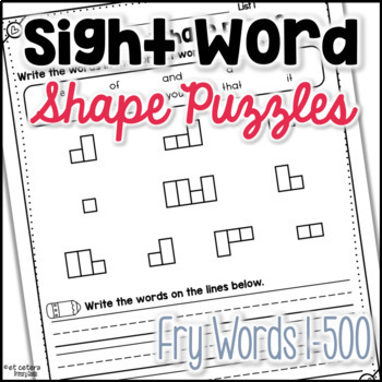 Sight Word Practice: Fry Word Shape Boxes (Words 1-400)
