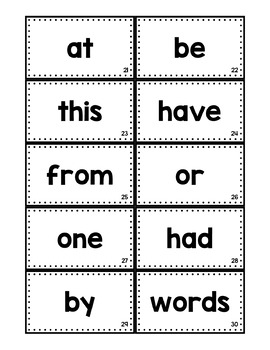 Fry Word Sight Word Flash Cards Including the First 200 Words
