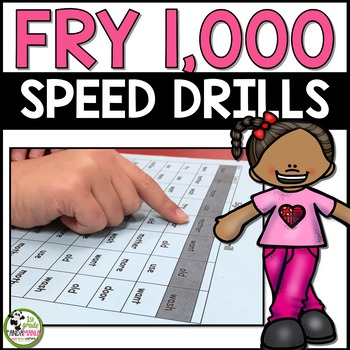 Fry Word Speed Drills For ALL 1,000 Fry Words!