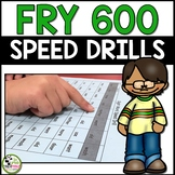 Fry Sight Words Speed Drills for First 600 Fry Words