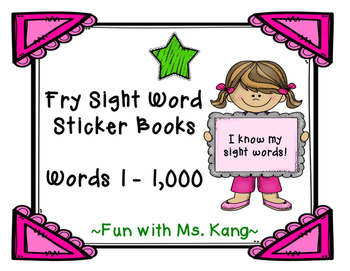 Fry Word Sticker Book 1-100 (Freebie)