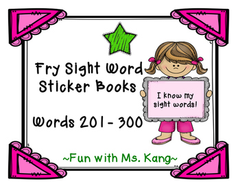 Fry Word Sticker Book 201-300