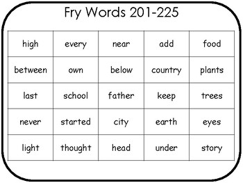 Fry Words: Third 100 Assessment Pack