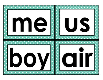 Fry Words 101-200 Word Wall Large Font Cards Polka Dot Borders