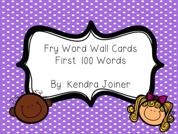 Fry Word Wall Cards Pack