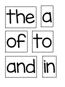 Fry Word Wall - First 100 Words