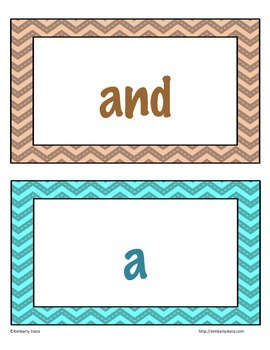 Fry (Two-for-One) Flashcards and Word Wall Cards - First Hundred