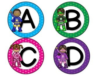 Fry Word Wall and Flash Cards Super Hero Theme {1st 300 Fry Sight Words}