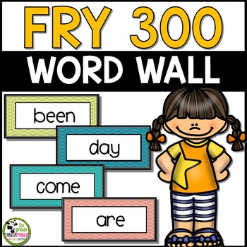 Fry Sight Words Word Wall for First 300 Fry Words