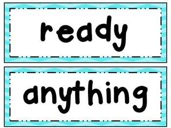 Fry Word Wall Set 6 ~ Words and Phrases 501 - 600
