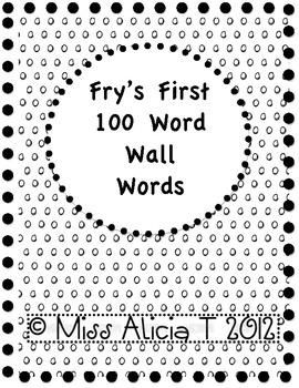 Fry Word Wall Word BUNDLE