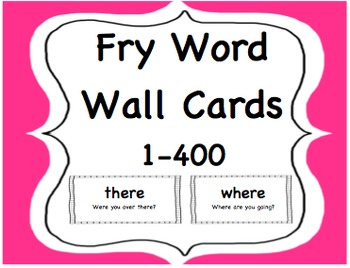 Fry High Frequency 'Sight Words' Word Wall Cards