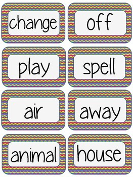 Fry Word Wall Words - 2nd 100