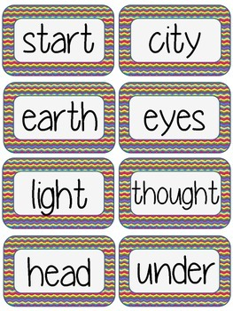 Fry Word Wall Words - 3rd 100