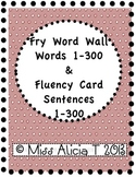 Fry Word Wall Words & Fluency Cards 1-300