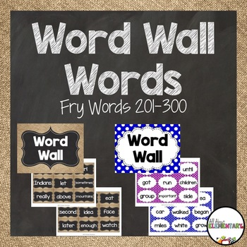 Word Wall Words for Fry Words 201-300
