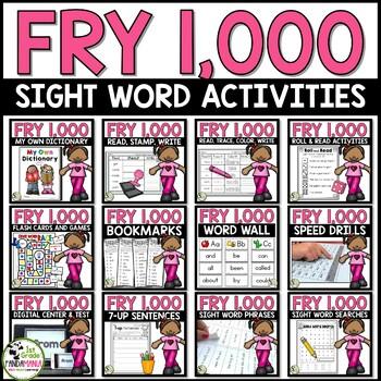 Fry Sight Word Activities BUNDLE!